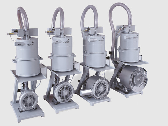 Central conveying: Side-channel blowers