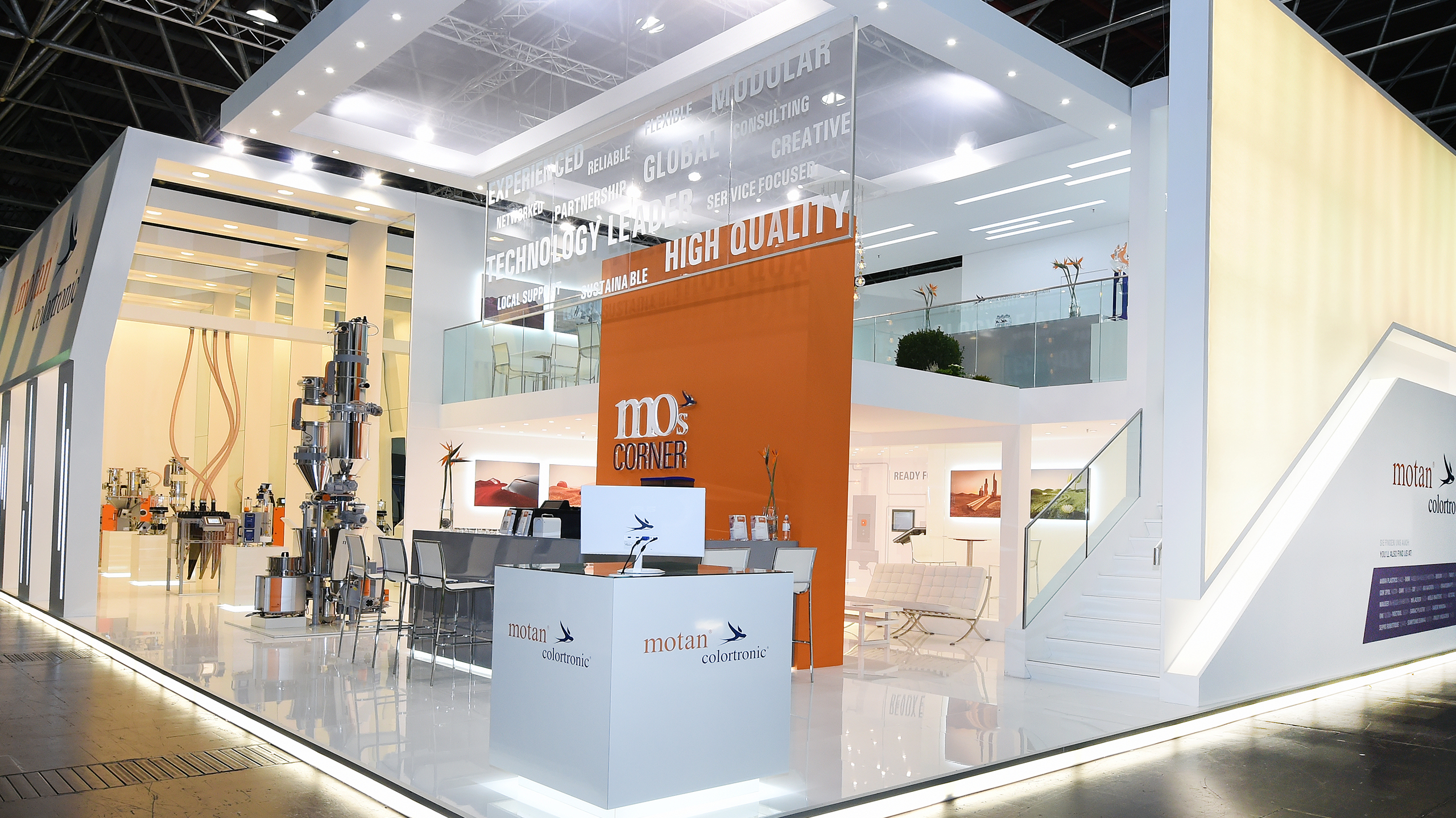 motan-colortronic exhibition booth picture
